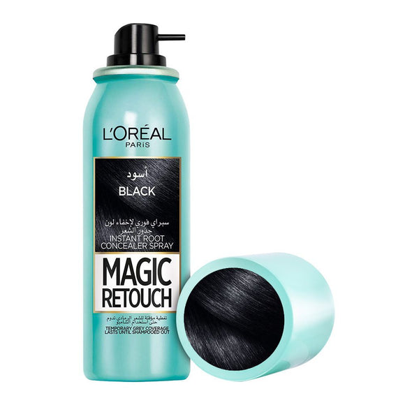 L'Oreal Paris Magic Retouch Instant Root Concealer Spray, Black, 75ml