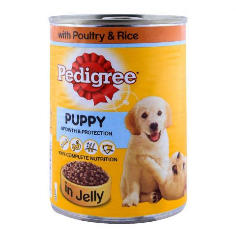 Pedigree Puppy Poultry & Rice In Jelly Dog Food 400g