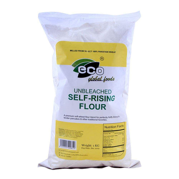 Eco Global Foods Unbleached Self-Rising Flour 1 KG