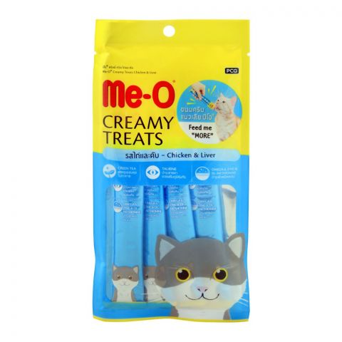 Me-O Creamy Treats, Chicken & Liver, Cat Food, 60g (4760529993813)