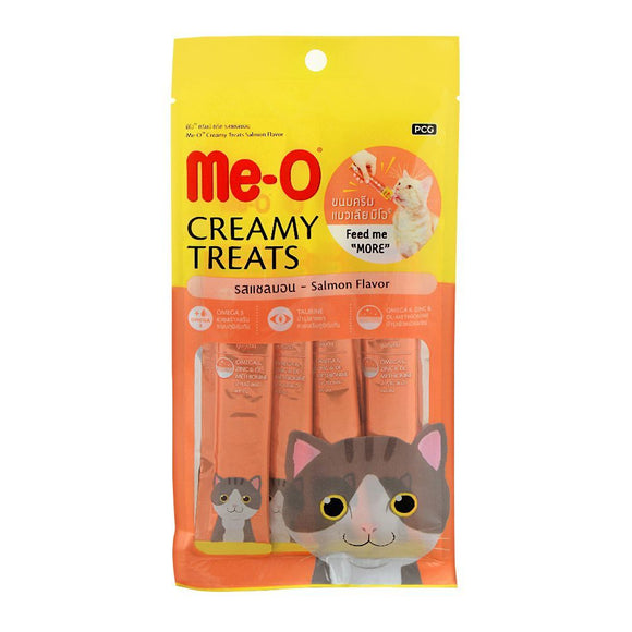 Me-O Creamy Treats, Salmon Flavor, Cat Food, 60g (4706046246997)