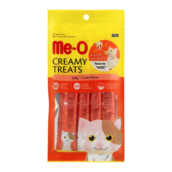 Me-O Creamy Treats, Crab Flavor, Cat Food, 60g (4706038317141)