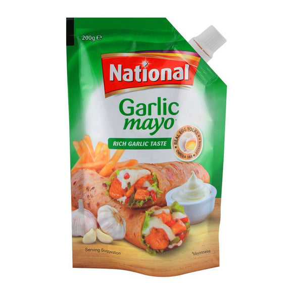 National Garlic Mayo 200gm (4611891003477)