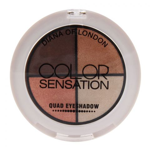 Diana of London Color Sensation Quad Eyeshadow 07 Hollywood (IMPORTED) (4761394380885)