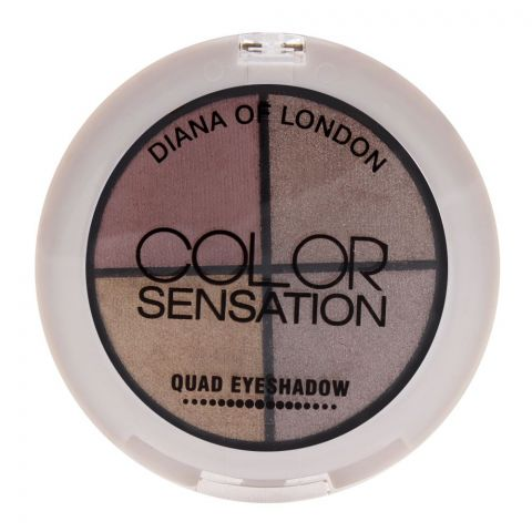 Diana of London Color Sensation Quad Eyeshadow 06 Burlesque (IMPORTED) (4761391169621)