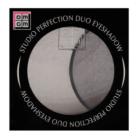 DMGM Studio Perfection Duo Eyeshadow 34 Satin White/Silver Gray (IMPORTED) (4761294471253)