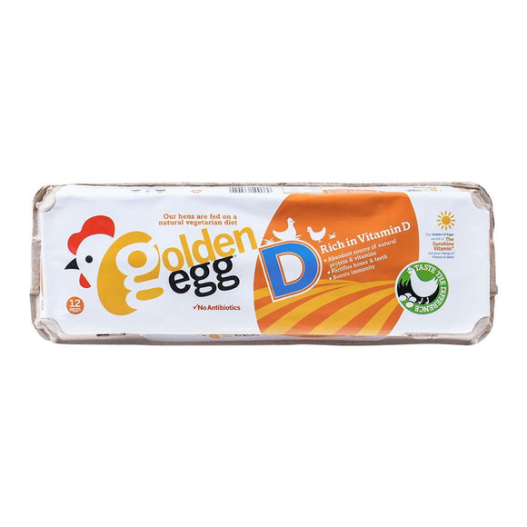 Golden Egg Rich In Vitamin-D Eggs, 12-Pack (4616765440085)