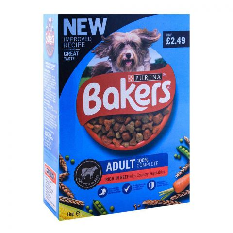 Purina Bakers Adult Beef & Vegetables Dog Food, Box, 1 KG