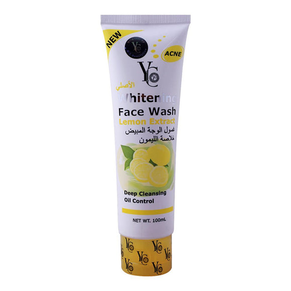 YC Whitening Face Wash Lemon 100ml Facewash Facial Cleaner 100ml (4651597004885)