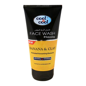 Cool & Cool Men Banana & Clay Whitening Face Wash, Normal To Oily Skin 150ml