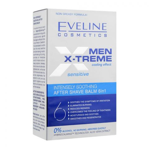 Eveline Men Xtreme Cooling Effect Sensitive Intensely Soothing After Shave Balm, 150ml (4767660769365)