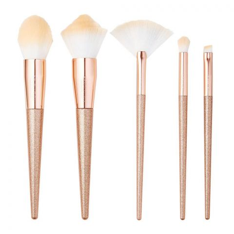Makeup Revolution Precious Stone Brush Set, Rose Quartz (4762236944469)