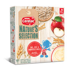 Nestle Cerelac Nature Rice Oats and Apple 175GM (4735340216405)