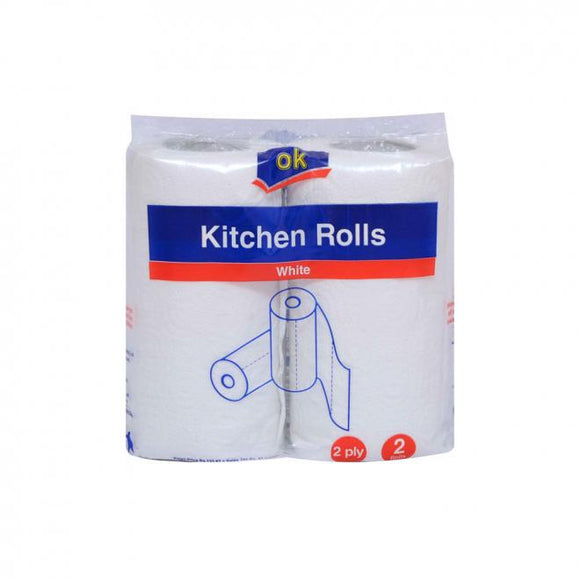 OK Kitchen Roll 2PLY x 2 (4736107610197)