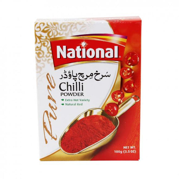 National Chilly Powder Pisi Lal Mirch 100gm (4707059990613)