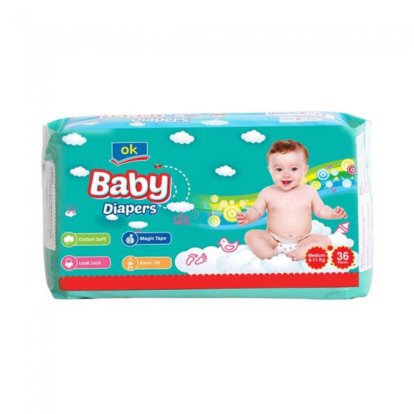 OK Baby Diapers Medium 36 PCS