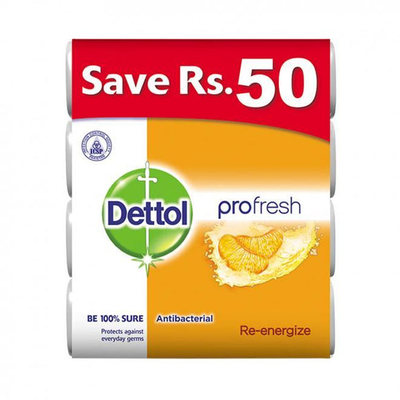 Dettol Soap Re-Energize – 130gm (Pack of 4) (4611980099669)