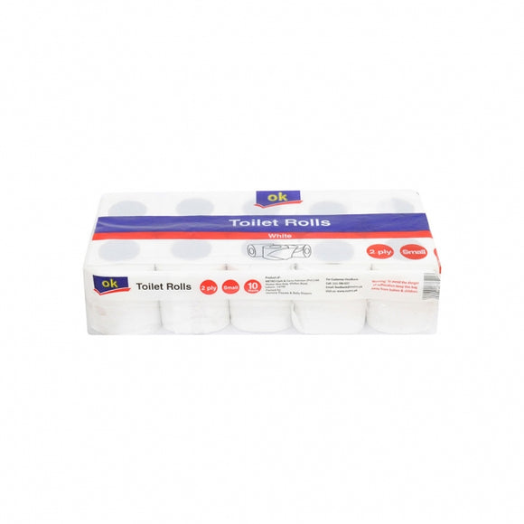 OK Tissue Toilet Roll Small X 10 (4736169705557)