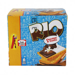 Pack of 6 Peek Freans Rio Chocolate Vanilla Half Roll (4611820027989)