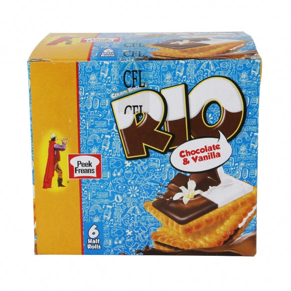 Pack of 6 Peek Freans Rio Chocolate Vanilla Half Roll