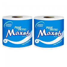 Rose Petal Toilet Roll MAXOB X2