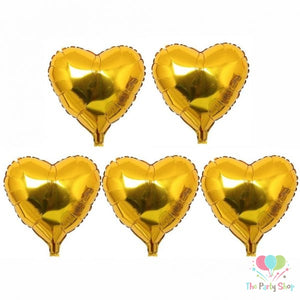 Golden Hearts Foil Balloons Set (4625682301013)
