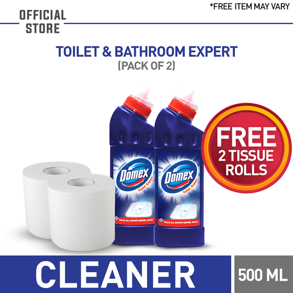 Free Tissue Roll With Pack of 2 Domex Blue 200 ML (4827652456533)