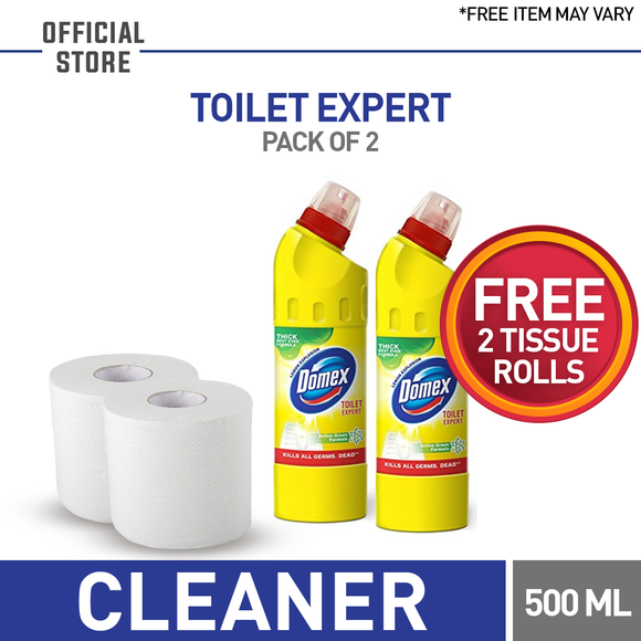 Free Tissue Roll With Pack of 2 Domex Yellow 500 ML (4827652948053)
