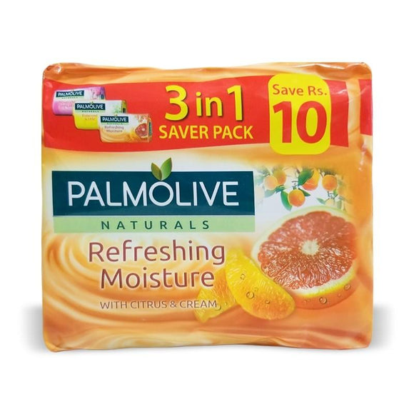 Palmolive - Palmolive Refreshing Moisture Soap (Pack of 3) - 110gm (4611975217237)