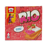 Pack of 6 Peek Freans Rio Strawberry Vanilla Biscuits Half Roll