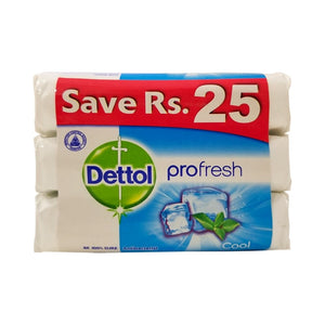 Dettol Cool Anti-Bacterial Soap Pack of 3 85gm