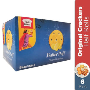 Pack of 6 Peek Freans Butter Puff Cookies Half Roll