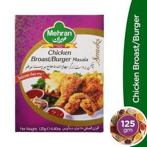 Mehran Chicken Broast Burger Masala 125gm (4613057577045)