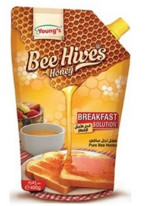 Young's Bee Hives Honey Pouch 400g (4736722501717)
