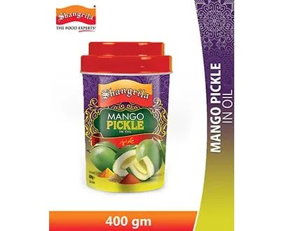 Shangrila Mango Pickle In Oil 400 gms Plastic Jar (4651551490133)