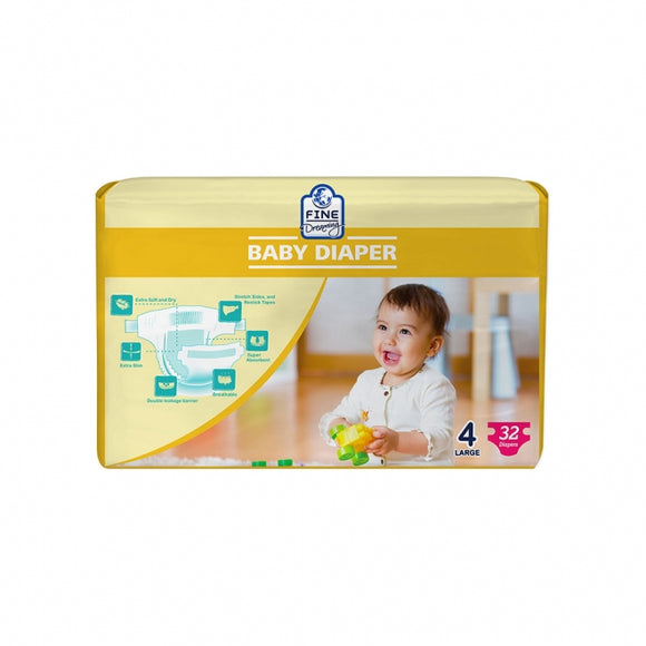 Fine Dreaming Happy Baby Diaper Large 32 PCS (4735335694421)
