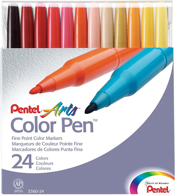 Pental 24 Colors Arts Color Pen S360  24