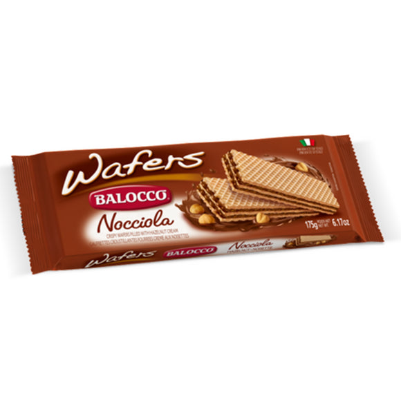 Balocco Snack Hazelnut Wafers 175gm (4626104418389)