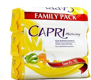 Capri - Capri Moisturizing Aloe-Nurture Extract Soap (Family Pack) - 420gm