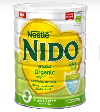 Nestle Nido One Plus Organic Growing up Milk Powder 800g (4749182107733)