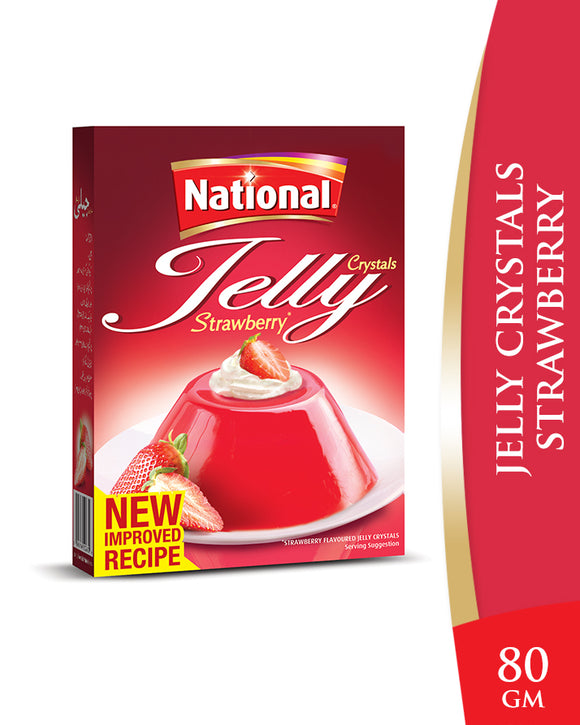 National Jelly Crystal Strawberry 80g