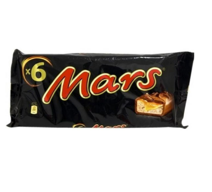 Mars Chocolate Pack Of 6 51gm Pack (4638453989461)