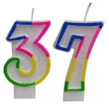 Happy Birthday Digit Candles Any Digit (4624254369877)