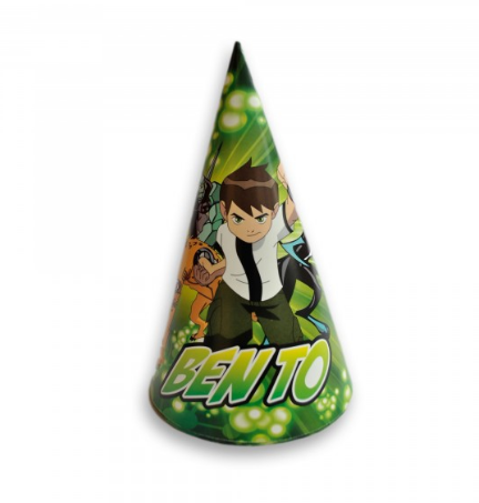 Pack of 10 Ben10 Party Caps For Kids (4692083572821)