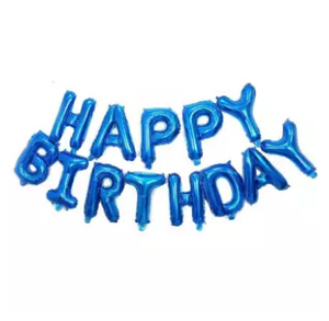 13 Letter HBD 16 Inch Foil Balloon Black Colour Birthday Party Decoration (4625689083989)