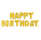 Happy Birthday 13 Letter 16 Inch Golden Foil Balloons for Birthday Party Decoration (4625688133717)