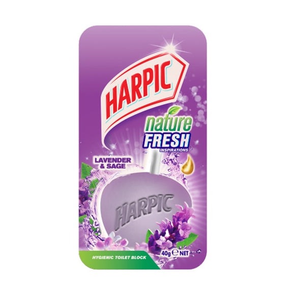 HARPIC IN TOILET BLOCK LAVENDER 40GM
