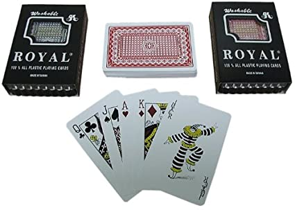 Royal Size 100% Plastic Playing Cards Taash Set in Plastic Case (4627526025301)