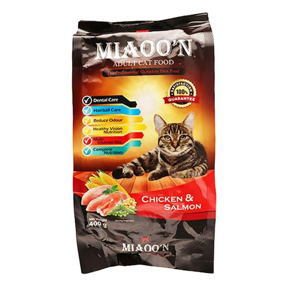 MIAOO'N Dry Cat Food Chicken & Salamon 400G (4817709695061)