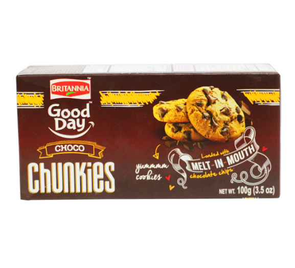 Britannia Good Day Chunkies Melt Mouth 100gm